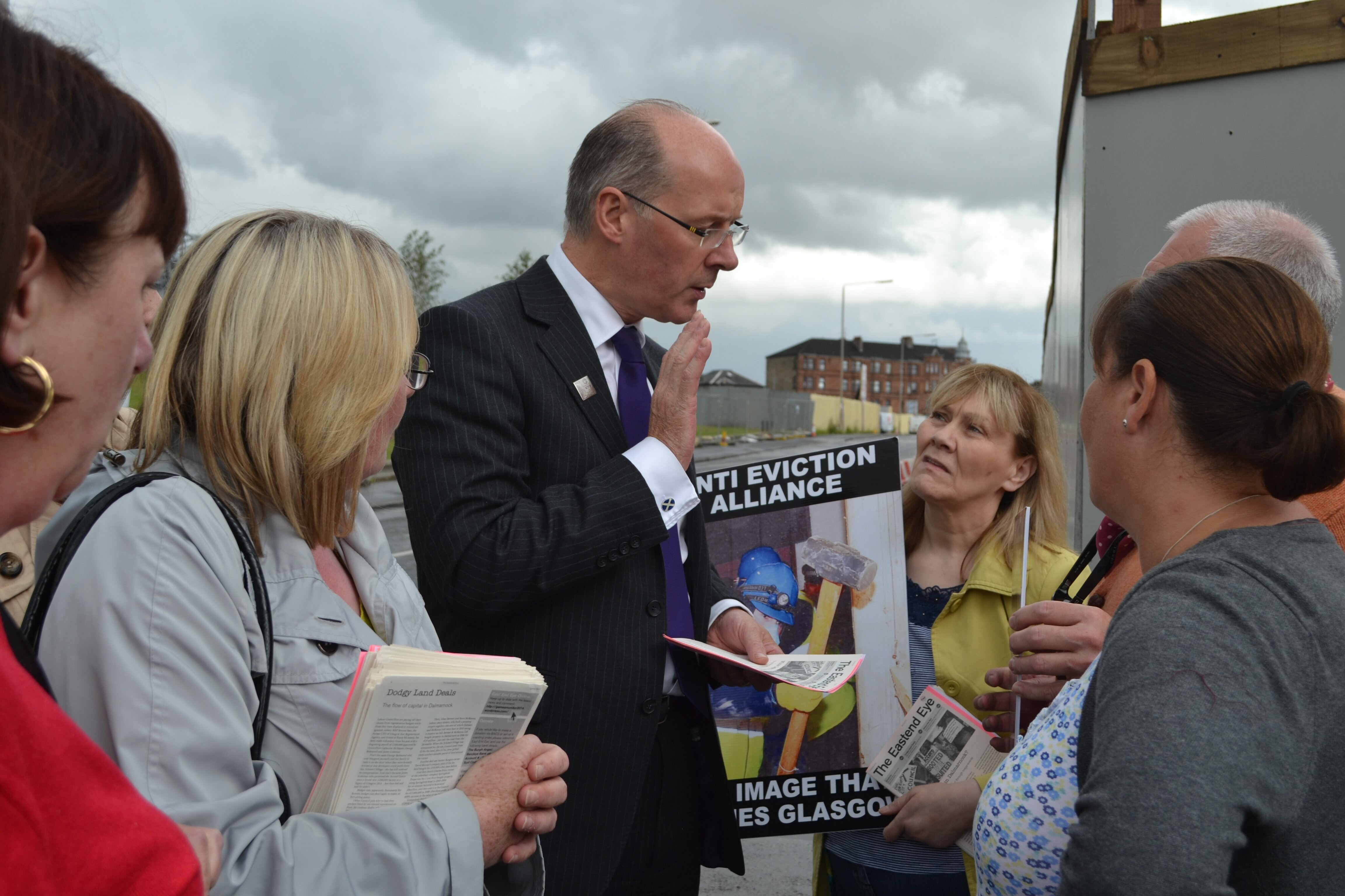 John Swinney Grilled in Dalmarnock Athletes Village