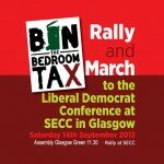 Bin the Bedroom Tax – Protest at Lib-dems UK national conference