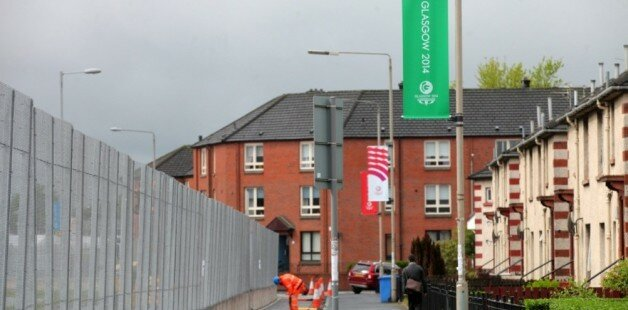 Residents 'barricaded in' by Glasgow 2014 fence
