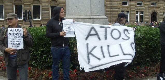 Disability Activists spread 'ATOS Kills,' message at #CommonwealthGames