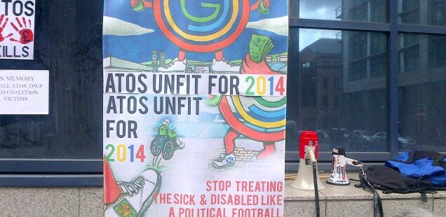 Police arrest anti-Atos protesters at Queen's Baton Relay
